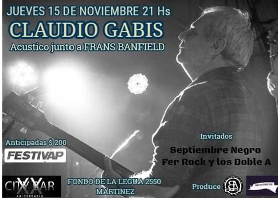 Claudio Gabis - Frans Banfield Jueves de Buena la Actitud City Bar